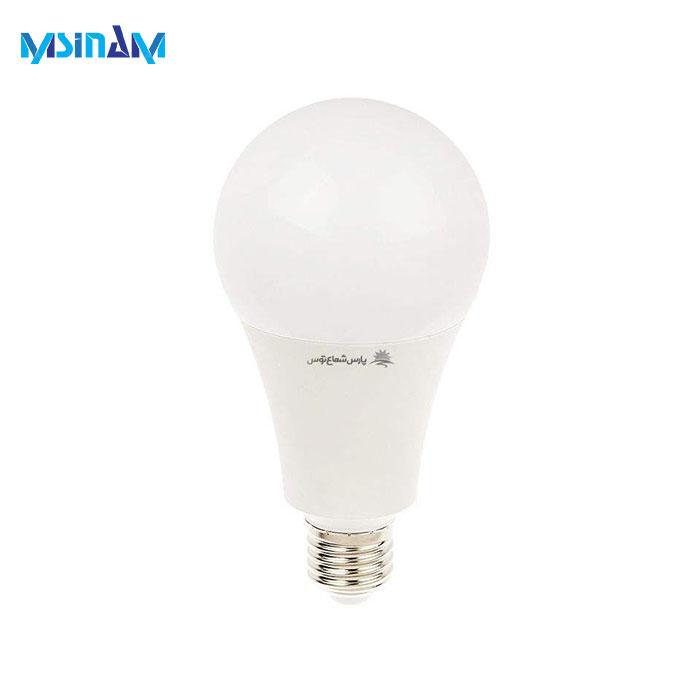 لامپ LED حبابی ۲۰ وات پارس شعاع توس کلاهک E27