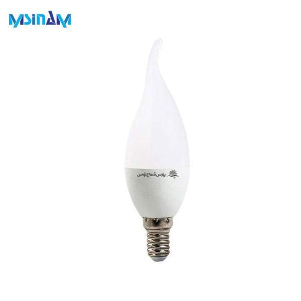 لامپ LED حبابی 7 وات پارس شعاع توس کلاهک E14